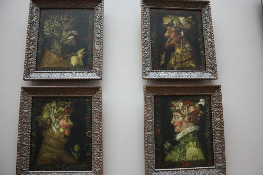 """Giuseppe Arcimboldos """"Vier Jahreszeiten"""" in der dritten Serie von 1573 ist vollständig im Louvre erhalten. Kritiker sehen Frankreich zurzeit eher in herbstlichen Gefilden. Tröstlich sein könnte auch für sie, dass auf Herbst und Winter stets ein neuer Frühling folgt. Foto: Michael Kunze."""