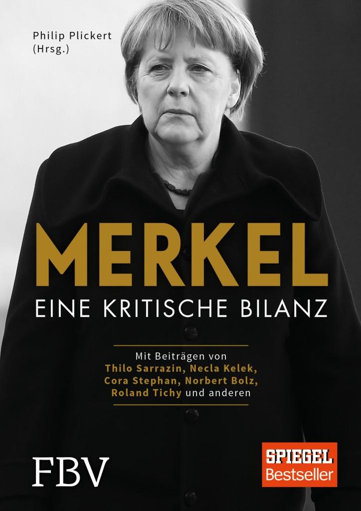Die Kanzlerin - ein Scheinriese? So wird Angela Merkel von 22 Publizisten und Wissenschaftlern in einem neuen Sammelband gedeutet. Cover: Verlag.